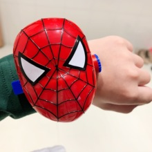 Children's projection spider man toy watch Iron Man cartoon deformation electronic watch boys and girls