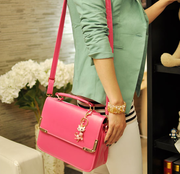 New handbag candy color Bag Shoulder Satchel handbags sweet Han van messenger bag
