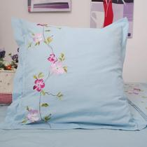 Foreign trade original export 200 combed cotton with embroidery embroidery hug pillowcase 65*65CM