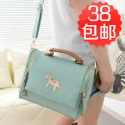 New spring and summer 2014 Korean Vintage British candy colored ponies bag shoulder - hand Bao Baoyou girl