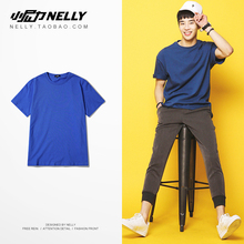 Ulzzang solid color breathable men's and women's half sleeve short sleeve T-shirt