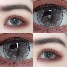 Two pairs of gray myopic contact lenses tqh