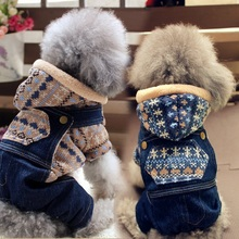 Dog Clothes, Female Autumn and Winter Dresses, Red Four-legged Clothes, Teddy Clothes, Pet Sweaters, Small Dog, Cat, Michelle Bear Cotton-padded Clothes