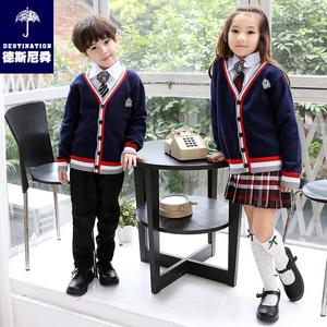 英伦幼儿园园服小学生校服秋款毛衣针织衫男女大合唱长袖儿童套装儿童校服