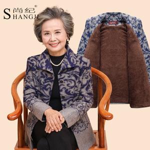 秋季中老年女装妈妈装上衣老年人女秋冬装厚奶奶装外套60-70-80岁中老年女装秋装