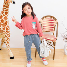 Girls' bodywear autumn 2019 new Korean fashion children's clothing spring and autumn top middle and large children's long sleeve T-shirt women