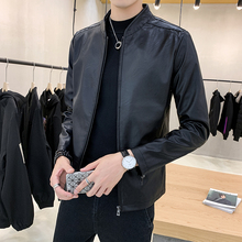 Casual fit winter Plush thickened motorcycle Pu jacket leather