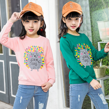 Girls' long sleeve T-shirt 2019 autumn new cartoon children's Korean spring and autumn top middle and big children's foreign style bottoming shirt