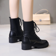 Ins Martin Boot Girls 2009 Spring and Autumn New English Style Student Korean Version Baitao Shoes High Help Girls Boots Winter