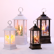 Holiday supplies Christmas simulation led flame lamp tabletop decoration scene layout portable oil lamp decoration props