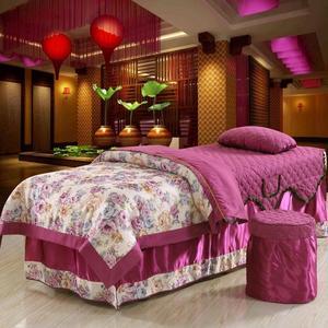 美容床罩四件套棉被套加厚理疗美体按摩洗头床推拿院会所通用定制美容床罩