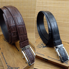 Thailand Siam crocodile belt, men's business casual party, real leather, high-end youth Joker belt