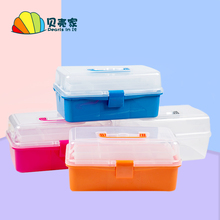 Baggage Art Toolbox Size and Size Multifunctional Receiving Box Children's Student Picture Box Hand-held Stationery Box Receiving Box
