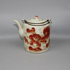 Чайник Китайская Республика фамий Красный Лев