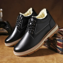 Warm winter casual Plush work dad's shoes