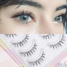 False eyelashes are naturally densely simulated, plain, short, and half tail. The effect of grafting is W-7.