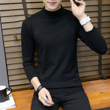 New style half high collar Korean solid color mid neck sweater in autumn and winter