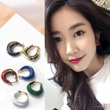 Design of Small Enamel Loop Earrings 2008 New Fashionable Earrings, Round Face, Thin Temperament Jewelry
