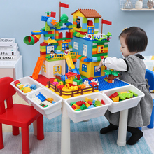 Lego Building Block Children's Toys 7 IQ 1 Assembly 2 Girls and Boys 3-6 Years Old 8 Building Block Table Multifunctional
