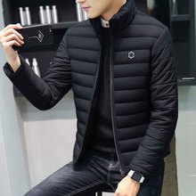 Men in cotton 2018 new Korean fashion lamb wool collar cotton padded jacket thickened cotton padded jacket handsome coat men's winter