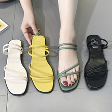 New simple flat sandals with flat sole in summer