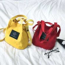 Light capacity small fresh lunch box College Summer simple women's bag cloth bag handbag mother small cloth bag messenger