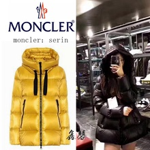 Moncler short style down jacket 18 new Mongolian SERIN doll A ladies high necked Hooded Coat