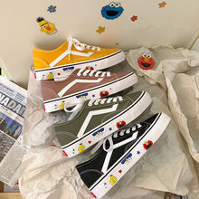 Graffiti canvas shoes female 2019 summer new ins shoes Student Korean version ulzzang chaoyuansu all-in-one board shoes