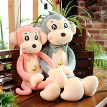 Monkey Dude Plush Toy Monkey Bed Sleeping with Cute Puppet Doll Pillow Girl's Birthday Gift