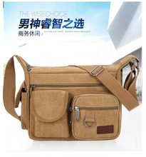 Canvas Bag Men's Single Shoulder Bag Large Capacity Men's Bag Leisure Men's Bag Travel Men's One Shoulder Slant Men's Backpack