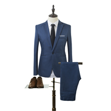 套装Men 2 Pieces Slim Fit Casual Tuxedo Suit Male Suits Set