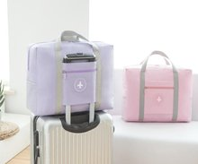 Receiving bags for luggage suitcases can be hung on foldable backpacks and put in handbags.