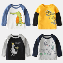 Children's long sleeve T-shirt, pure cotton, westernized baby top, Korean version, 2019 autumn new children's wear, boys' bottoming fashion