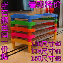 Kindergarten special bed folding bed for kindergarten child care plastic plank bed nursery crib bedding