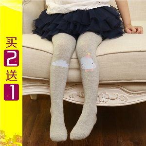 儿童连裤袜春秋女宝宝打底裤袜连体袜子婴儿全棉女童韩版卡通袜裤女童袜子