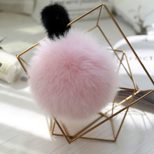 Autumn, winter, new products, Japanese and Korean wind, real fur mask, fashion fox fur, ears, plush, warm and large ears.