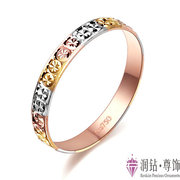 ! promotion fion jewelry 18K gold rose gold color gold ring tail ring female stars to send his girlfriend genuine mail