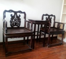 стул Old mahogany chairs pair 1987