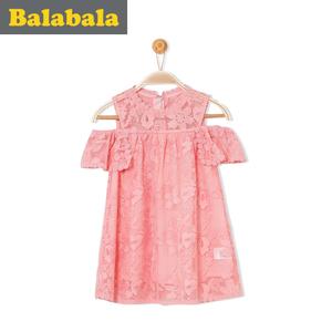 巴拉巴拉童装儿童公主裙女童连衣裙女孩2017新款小童宝宝裙子夏女儿童连衣裙