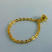 thousands of gold rings gold rings 999 gold chain with a small bell rings compact Nvjie