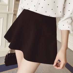 A哚啦2016夏装新款韩版修身 纯色显瘦分割伞裙半身裙短裙女8023短裙