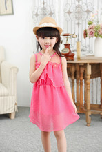 Princess skirt girl's dress Lapel sleeveless yarn skirt children's skirt Korean puff skirt princess skirt summer