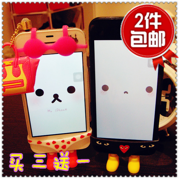 苹果iphone4s/5创意手机内衣纹胸罩Bra个性可爱配件比基尼包邮