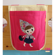 Cartoon storage bag childrens bed hanging bag bag girl childrens bed tents half high bed wall accessories