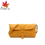 Feng Ya handbags cowhide leather shoulder bag diagonal package wild loving family classic minimalist fashion H buckle packet 1
