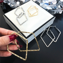 European and American exaggerated cold wind geometric Earrings 2019 new fashionable Earrings female temperament Korean personalized net red ear jewelry