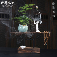 New Chinese style zen sitting room porch place household soft adornment creative arts and crafts of TV ark wine back censer