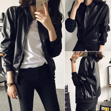 European and American foreign trade spring and autumn collar locomotive leather cardigan