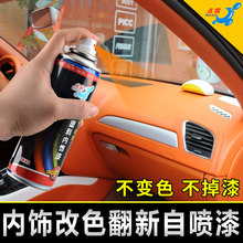 Repair of scratches in self-spraying paint for color-changing plastic parts of automobile interior