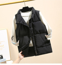 New Korean stand collar thickened solid color waistcoat